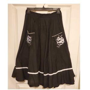 Hell Bunny Bats Skirt